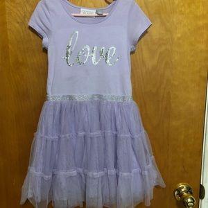 Children's Place Purple sparkly Tutu dress Size 5T
